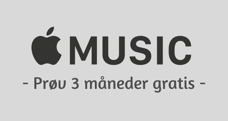 Prøv Apple Music gratis